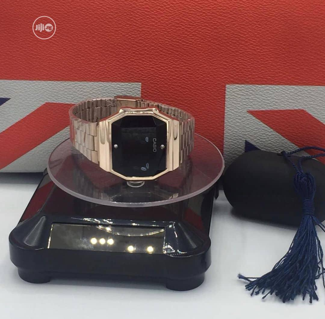 Casio Digital Rose Gold Chain Watch