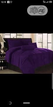 7x7 Purple Duvet, Bedsheet With 4 Pillow Cases   Home Accessories for sale in Lagos State, Ikeja