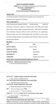 Technology CV | Technology CVs for sale in Ondo State, Owo