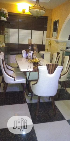 Italian Marble Dinning Tables With 6 Chairs   Furniture for sale in Lagos State, Oshodi