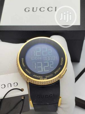Gucci Gold Ice Head Rubber Strap Watch | Watches for sale in Lagos State, Lagos Island (Eko)