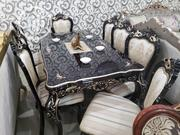 Home Dining Table Wood By 6 Chairs   Furniture for sale in Lagos State, Ojo
