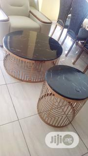 Round Marble Center Table With 2 Side Stools | Furniture for sale in Lagos State, Ojo