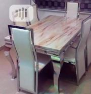High Quality Marble Dining Table Set by 6seater   Furniture for sale in Lagos State, Ojo