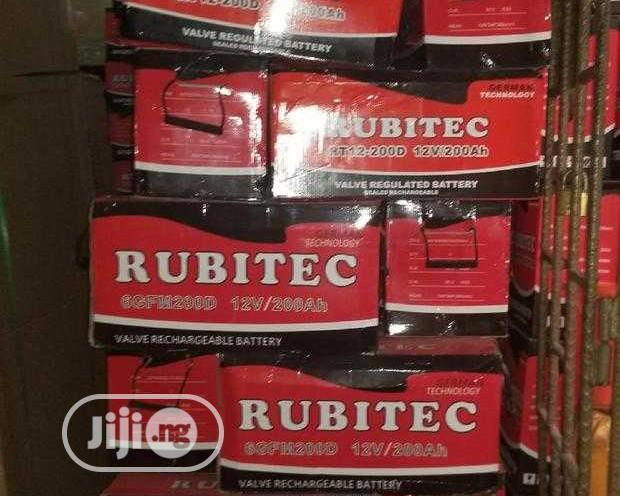 12V 200AH Rubitec Solar Battery