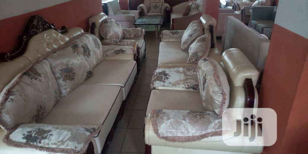 Italian Royal Sofa Chairs by 7 Seaters Fabric and Leather