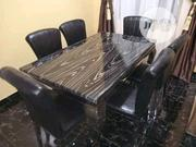 Marble Dining Table By 6 | Furniture for sale in Lagos State, Surulere