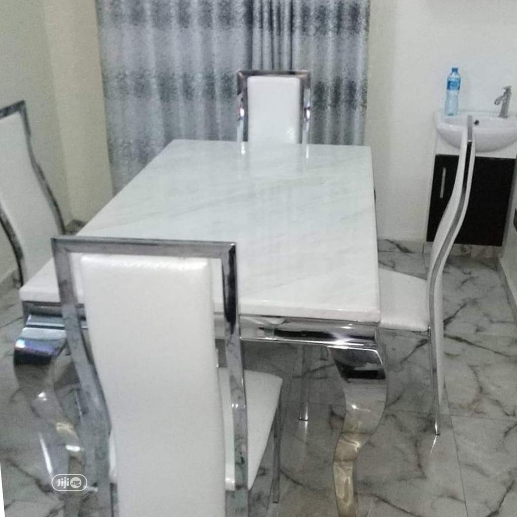 Archive: Classic Four Seaters Marble Dining Table