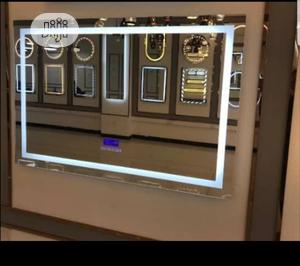 5mm LED Rectangul Wall Mirror With Temperature and Bluetooth   Home Accessories for sale in Lagos State, Lekki