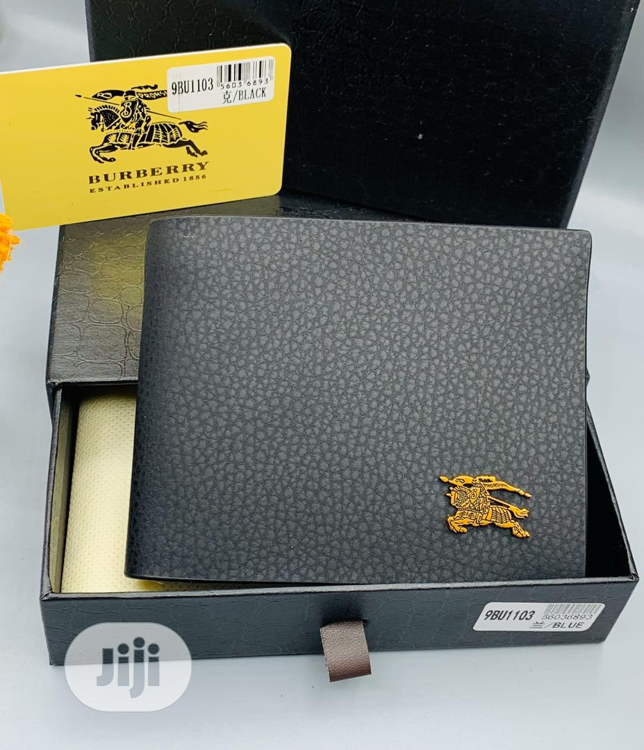 Burberry Leather Wallet for Men's