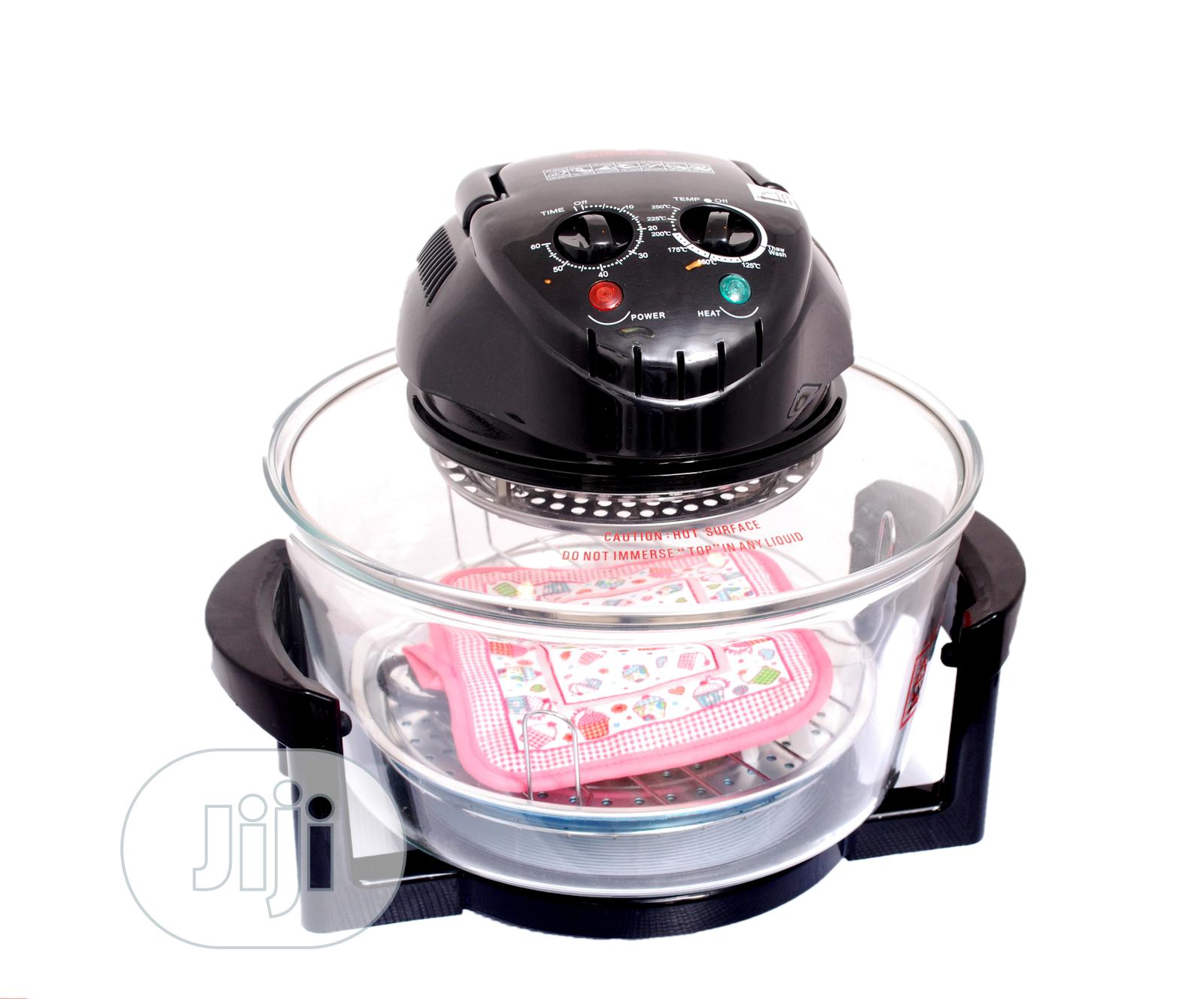 Hometech Halogen Oven in Lagos S - Black With 10 Accessories | Kitchen Appliances for sale in Ikeja, Lagos State, Nigeria