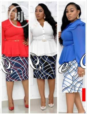 New Women Skirt With Chiffon Blouse   Clothing for sale in Lagos State, Ikeja