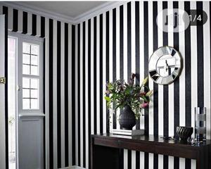 Black and White Stripes Wallpaper | Home Accessories for sale in Lagos State, Ajah