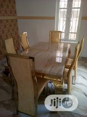 Quality Portable Gold Marble Dining Table | Furniture for sale in Lagos State, Surulere