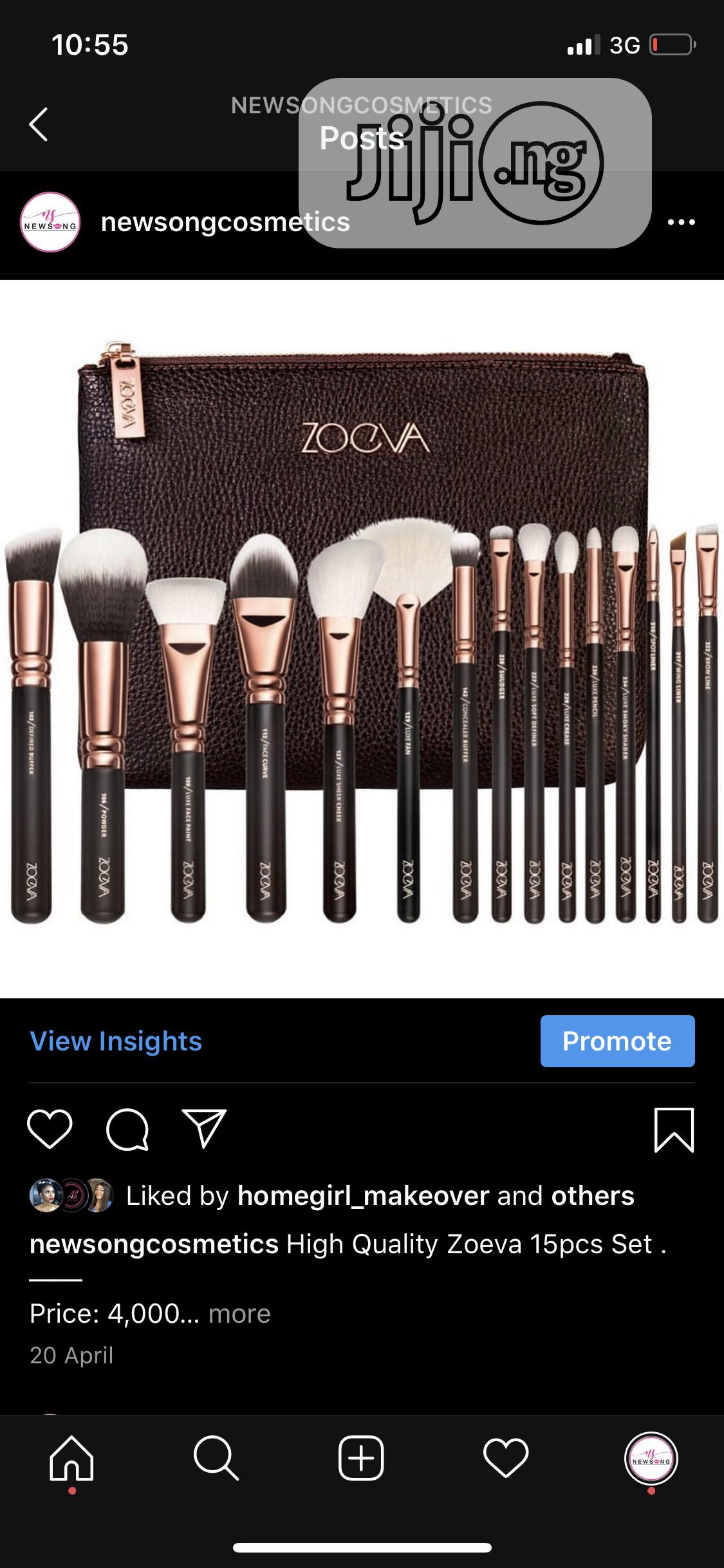 Archive: Zoeva 15pcs Makeup Brush Set