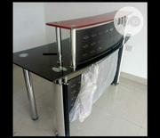 Brand New Imported Glass Reception Table With Metal Leg Stand | Furniture for sale in Lagos State, Yaba