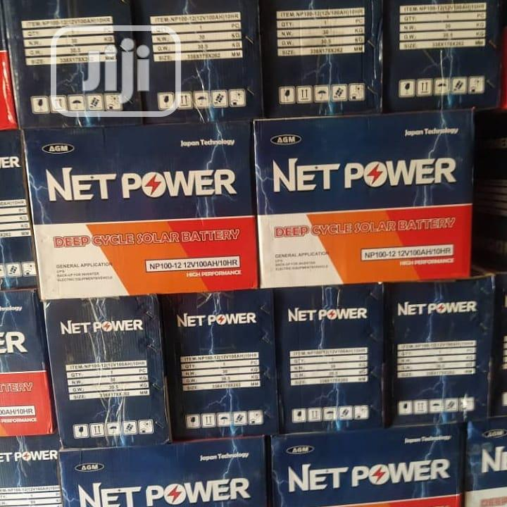 100ah Net Power Battery   Solar Energy for sale in Ojo, Lagos State, Nigeria
