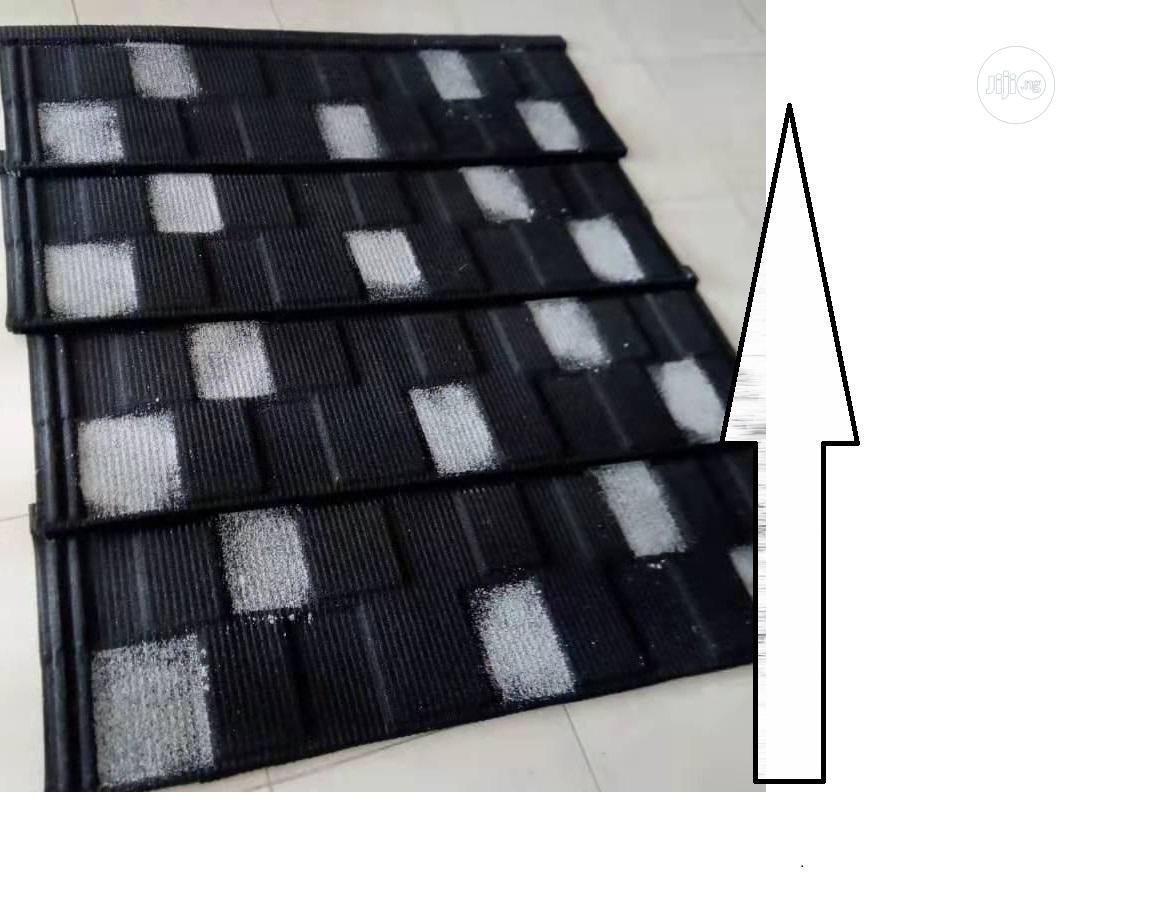Black and White Shingle Roofing Tiles in Lagos State