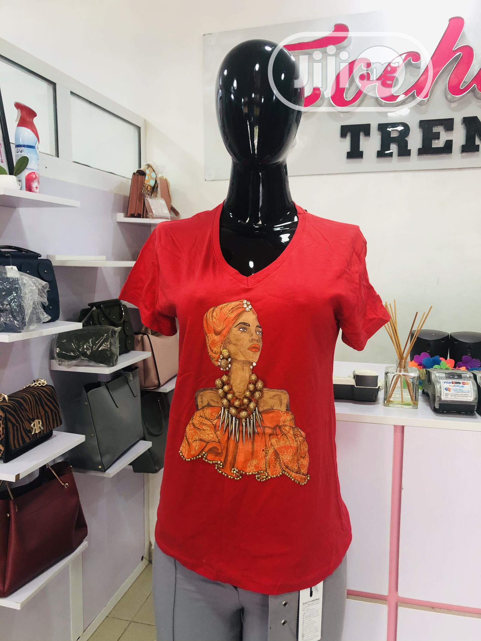 Beautiful Red Tshirt | Clothing for sale in Gwarinpa, Abuja (FCT) State, Nigeria