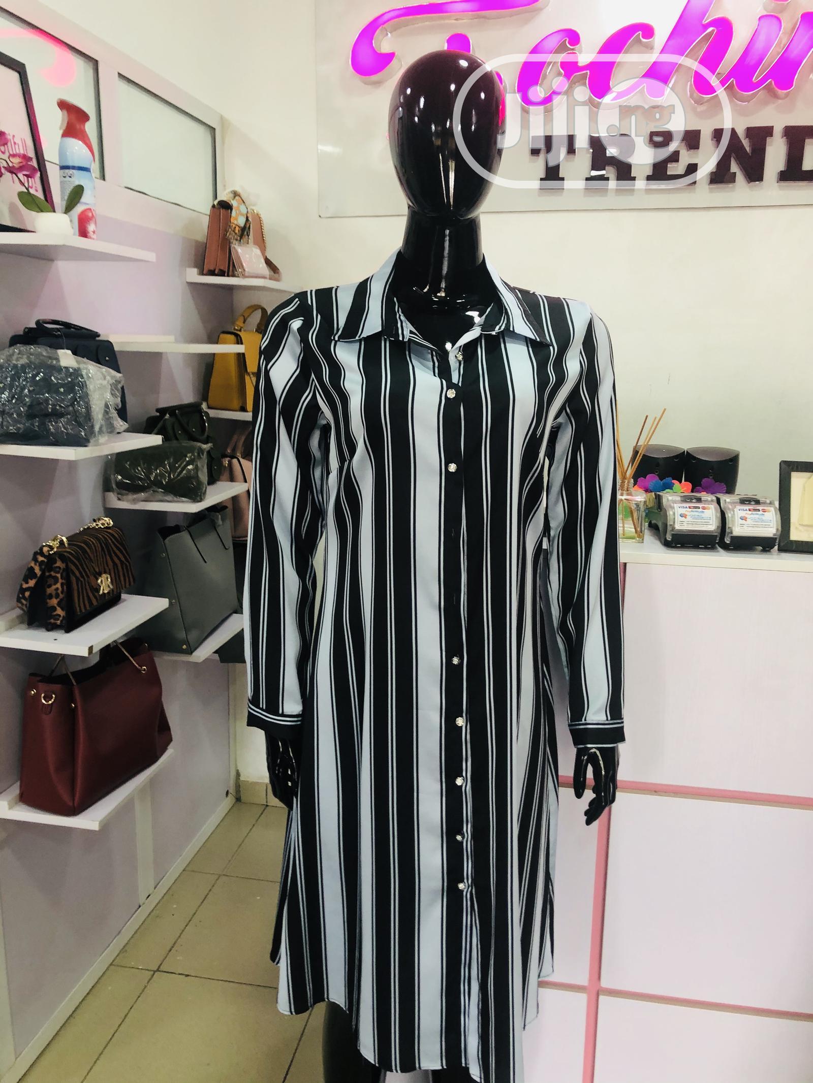 Blue Long Shirt Dress   Clothing for sale in Garki 2, Abuja (FCT) State, Nigeria