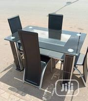 Quality Imported Glass Dining Table With 4 Chairs | Furniture for sale in Lagos State, Yaba