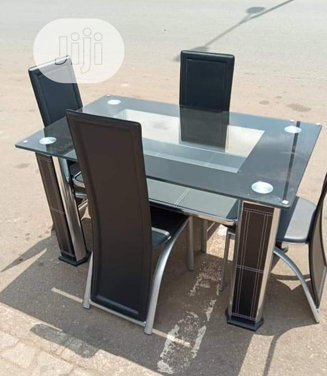 Quality Imported Glass Dining Table With 4 Chairs