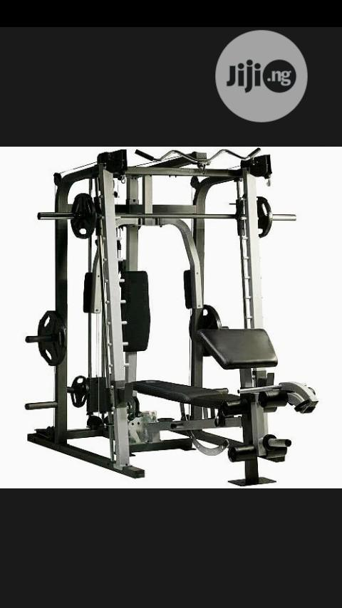 Multi Station Gym With 50kg Plate