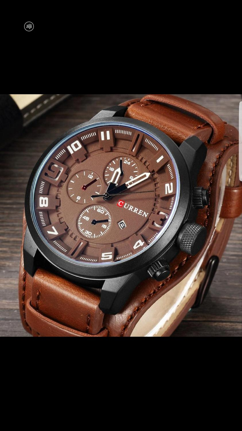 Archive: Curren Leather Wristwatch