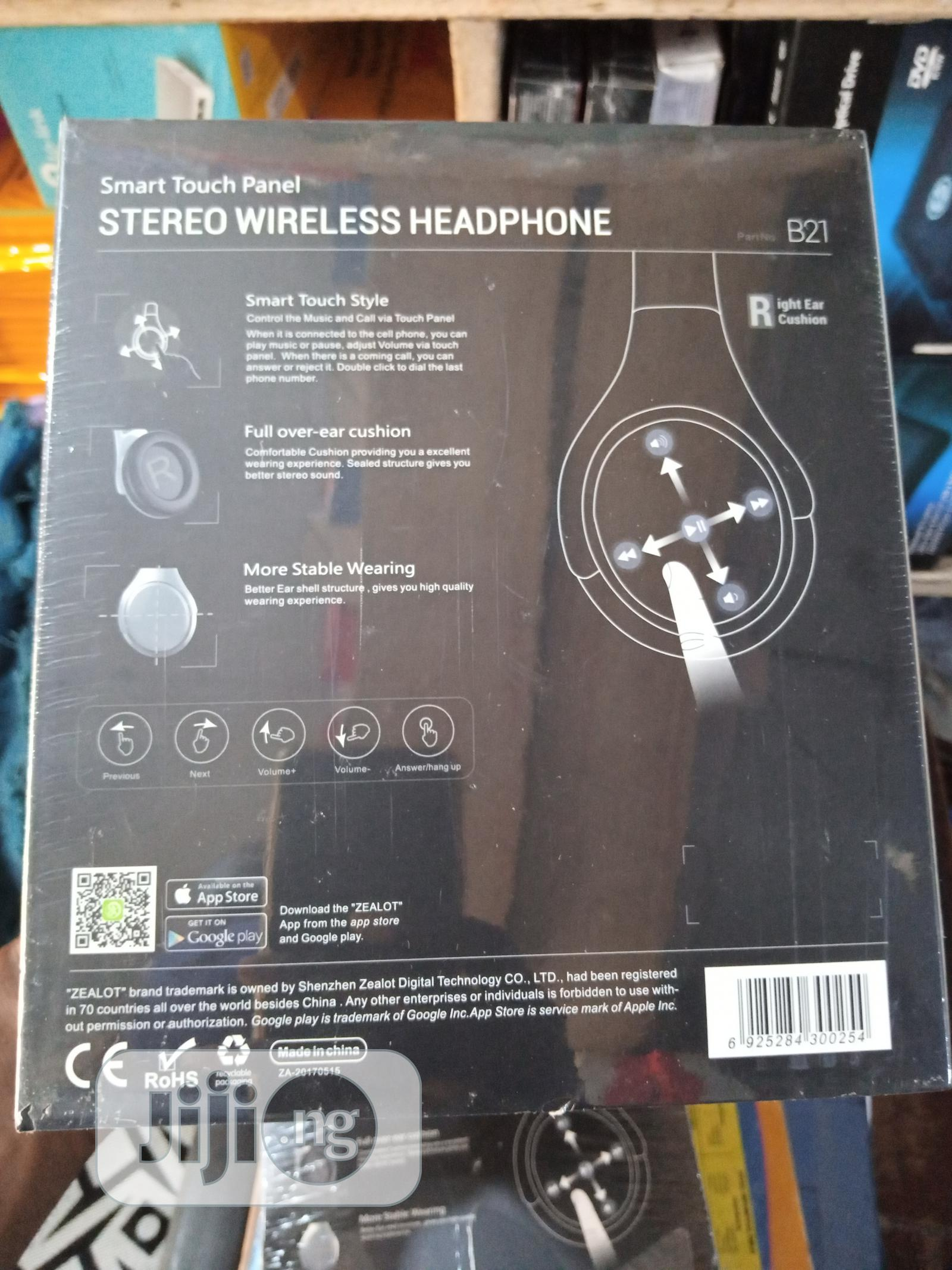Zealot Bluetooth Headphone With Touch Panel Control   Headphones for sale in Ikeja, Lagos State, Nigeria