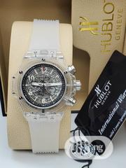 White Rubber Strap Hublot   Watches for sale in Lagos State, Ikeja