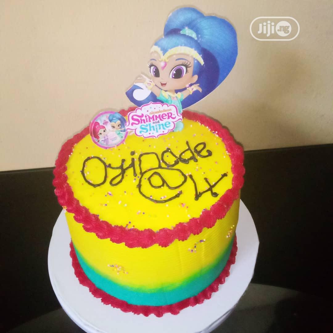 Archive: Shimmer and Shine Buttercream Cake