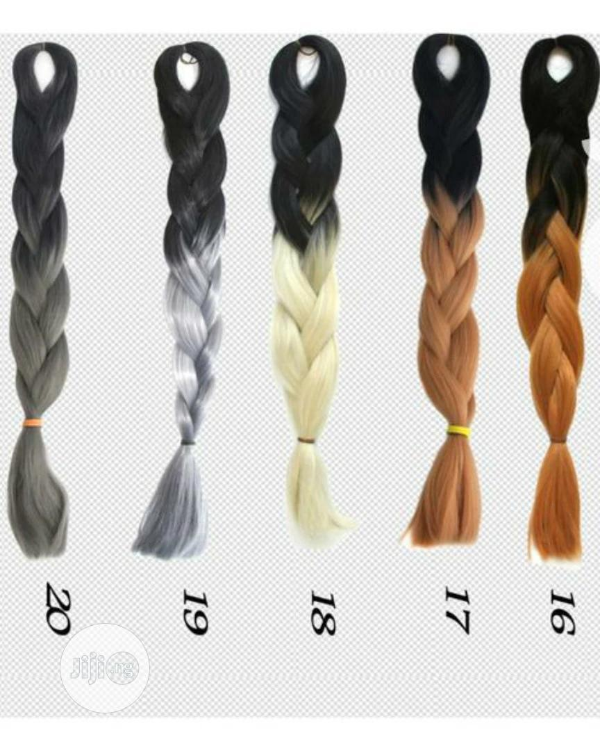 Ombre Attachment Multicoloured Hair | Hair Beauty for sale in Ajah, Lagos State, Nigeria