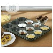 Muffin Cupcake Baking Cake Pan + 100pcs Cup Cake Paper | Restaurant & Catering Equipment for sale in Lagos State, Victoria Island