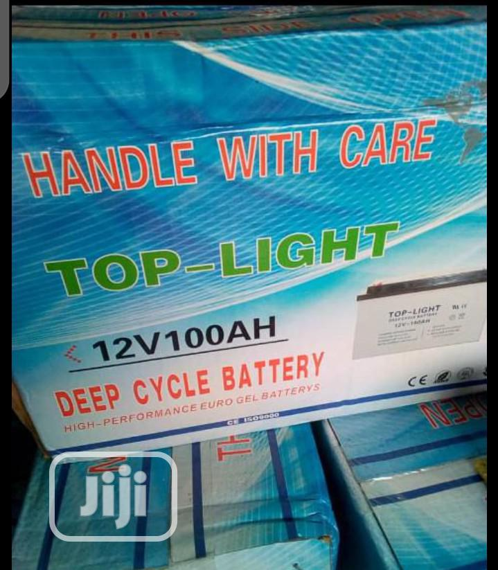 100ahs 12volt Top-light Battery With One Year Warranty