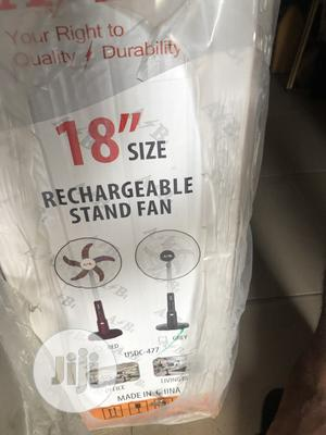 A₹B 18inchs Rechargeable Standing Fan 8hours | Home Appliances for sale in Lagos State, Ikeja