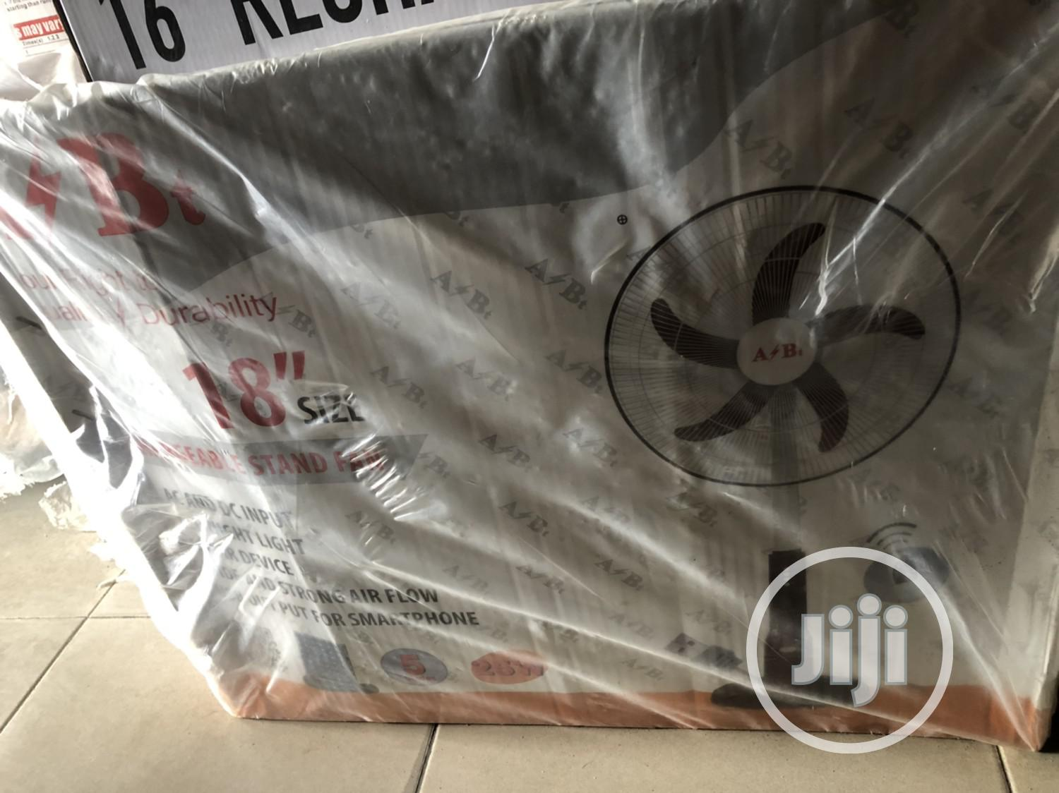 A₹B 18inchs Rechargeable Standing Fan 8hours   Home Appliances for sale in Ikeja, Lagos State, Nigeria