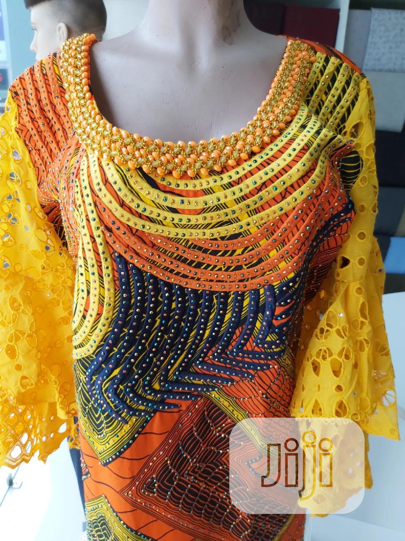 Archive: Embellished Ankara /Drylace Dress
