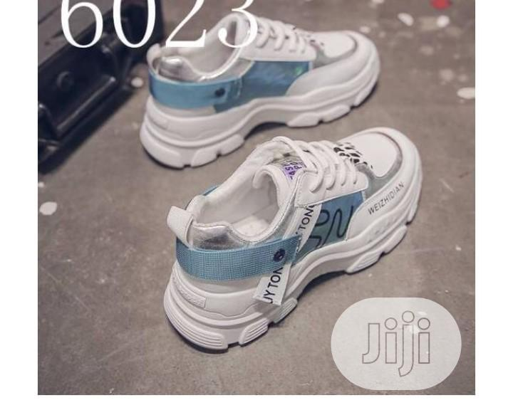 Chic Weider Sneakers-White Blue   Shoes for sale in Isolo, Lagos State, Nigeria