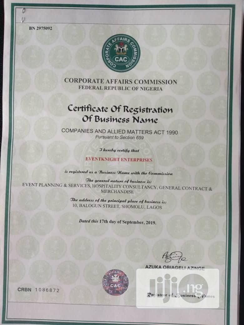 CAC Business Name.Company(Limited).Incorporated Trustee Registrations | Legal Services for sale in Oshodi, Lagos State, Nigeria