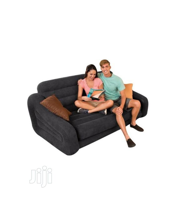 Intex Intex Double Pull-out Sofa And Airbed In Black