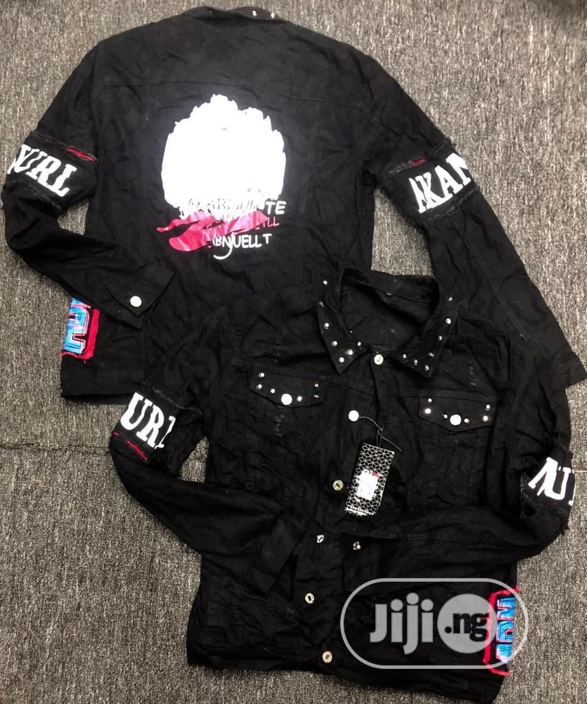 Archive: Men's Studded Jeans Jacket - Black