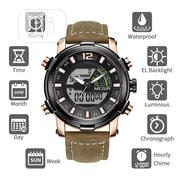 Men Sport Watch MEGIR Analog Quartz Digital Dual Display Watches | Watches for sale in Benue State, Makurdi