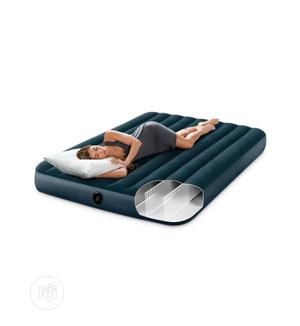 Intex 10in Full Size Inflatable Dura-Beam Midnight Airbed With Pump | Furniture for sale in Lagos State, Ikoyi
