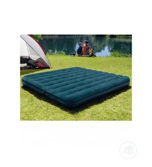 Intex 10in Full Size Inflatable Dura-Beam Midnight Airbed With Pump | Furniture for sale in Lagos State, Apapa