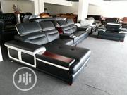 Quality L Shape Pure Leather Sofa | Furniture for sale in Lagos State, Ikoyi