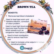 Longrich Brown Tea(Blood Pressure And Blood Fat Reducing Tea) | Vitamins & Supplements for sale in Lagos State, Ibeju