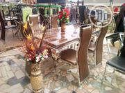 Marble Dining Table With 6 Chairs | Furniture for sale in Lagos State, Ifako-Ijaiye
