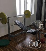 Commercial Weightlifting Bench Press With 60kg Weightlifting | Sports Equipment for sale in Lagos State, Surulere