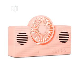 Fan Speaker Portable Bluetooth Deep Bass Sound | Audio & Music Equipment for sale in Lagos State, Yaba