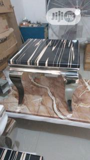 Marble Side Steel Table | Furniture for sale in Lagos State, Ikoyi